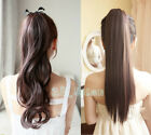 "22"" WRAP-AROUND PONYTAIL Hair Extension Sexy Long Piece Clip In Women Lady HAIR"