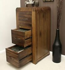 Strathmore solid walnut home furniture large three drawer computer office filing