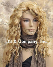Human Hair Blend Wig Long Wavy Blonde Mix Heat Resistant sfa 27/613