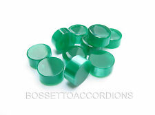 Accordion BUTTONS GREEN Harmonika Knöpfe 13.8x7.5 (mm) SET OF 10