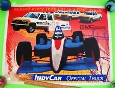 "Vintage 1994 GMC - OFFICIAL TRUCK OF INDY RACING 24"" X 18"" AUTO RACE POSTER Xlnt"