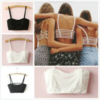 Vest Cut sexy Padded Bra Crop Tops Sport Out Shirt Summer Beach Tank Tops ue65