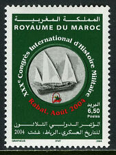 Morocco 974, MNH. 30th Intl. Military History Congress. Boat, 2004