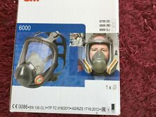 3M 6900 Large Full Face Mask Respirator + 6 2138 filters  + 5 lens covers NEW