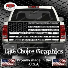 Black and White Pledge Am Flag Truck Tailgate Wrap Vinyl Graphic Decal Sticker