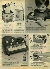 1976 PAPER AD Toy Piano Schroeder Peanuts Snoopy Jack Box Mattel Phonograph