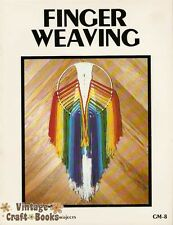 Finger Weaving Vintage Retro Instruction Project Pattern Book 1977 NEW
