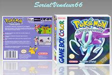 """Boitier du jeu """"POKEMON VERSION CRISTAL"""", Game Boy Color. FR. HD. SANS LE JEU."""
