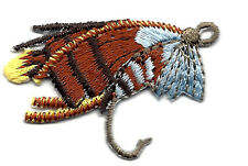 FISHING LURE  -SPORTS - FISHING FLY - FISH - Iron On Embroidered Applique Patch
