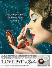 PUBLICITE ADVERTISING 014   1963    REVLON  cosmétiques LOVE PAT