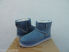 UGG MENS CLASSIC MINI DECO IMPERIAL LEATHER/ SHEEPSKIN BOOTS, US 9/ EUR 42 ~ NEW
