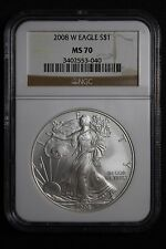 2008-w Silver Eagle American Silver Eagle NGC Graded a Perfect MS70 GOOD DEAL!