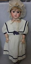 "Antique French Jules Steiner Bisque head doll A15 Le Parisien 23"" damaged"