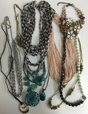 Wholesale Lot of 10 Necklaces: Fashion Jewelry Name Brand Quality  NEW