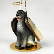 Irish Wolfhound Dog Figurine Ornament Angel Statue Hand Painted