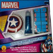 AMERICAN DREAM MAKEUP KIT Nails Hair Comb Captain Rubies Cosplay Adult Women NEW