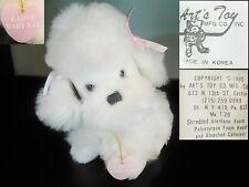 """10"""" ART'S TOY 1990 White POODLE PUPPLY DOG PLUSH Mary Kay Stuffed Animal Lovey"""