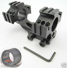 "New Cantilever 20mm Rail Mount Dual 30mm & 1"" 25mm Ring For Scope/Rifle #714"