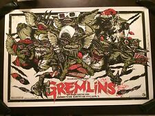 Gremlins Glow In The Dark Christmas Movie Poster Mondo Art Print Rhys Cooper