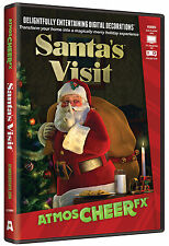 CHRISTMAS ATMOSCHEERFX SANTA'S VISIT Virtual Show DVD TV WINDOW PROJECTION NEW