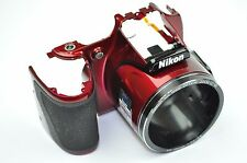 Nikon Coolpix L820 Front Cover With Rubber Replacement Repair part RED