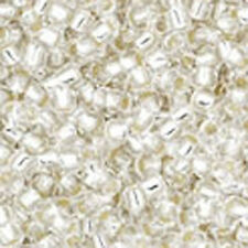 Toho 15/0 Silver Lined Crystal Seed Bead 15-21 8 grams