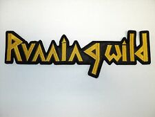 RUNNING WILD     EMBROIDERED BACK PATCH