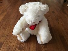 Vermont Teddy Bear Company White Teddy Plush Bear - Moveable Joints -  ~ 22""
