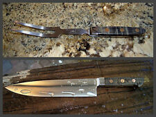 NIB - Macklin & Co 9.5 inch Chef Knife & Bonus Carving Fork  - Made in the USA