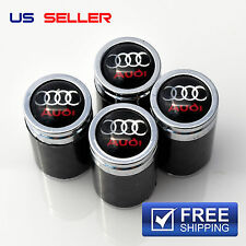 CARBON FIBER AUDI  VALVE STEM CAPS  WHEEL TIRE - US SELLER VC03