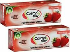 2 X Cosmo Silky Hair Remover Cream { Strawberry Flavour } Low Price Orignal 50gm