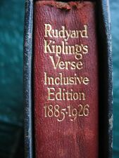 1928 Rudyard Kiplings Verse Inclusive edition 1885-1926 with rare slipcase 1st