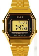 Casio LA680WGA-1D Ladies Mid-Size Gold Tone Digital Retro Vintage Watch NEW