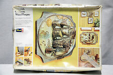 RARE!! 1973 Revell SPANISH GALLEON WALL PLAQUE Model H 851 COMPLETE Sealed Parts