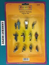 30-11063 MTH Railking O/O27 12-Piece Subway Figure Set NIB