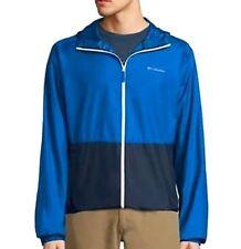 Columbia - Mens M - NWT - Blue/Black Full Zip Rockwell Falls Windbreaker Jacket