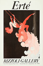 Original Vintage Poster Erte Art Deco Fashion Exhibition Swing Showgirl French
