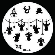 NEW Design Xmas Nail Art Image Stamp Stamping Plate Manicure Template Tool DX-48