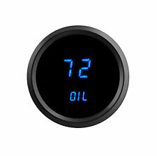 "52mm 2 1/16"" BLUE LEDs Digital OIL PRESSURE Gauge Intellitronix Black Bezel"