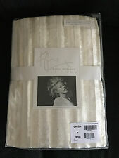 """BNIP Kylie Minogue At Home Iliana Luxury Lined Eyelet Curtains Oyster 66x54"""""""