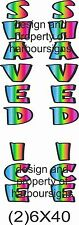 """Shaved Ice Vertical Decal 40"""" Snow Cones Concession  Trailer Cart Food Truck"""