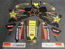 Suzuki RM125 RM250 2001-2012 Team issue Rockstar Energy graphic set GR1420