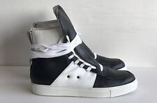 KRIS VAN ASSCHE Black leather hi-top trainers UK 7 EU 41 RRP £445