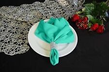 LOT OF 10 SPA TIFFANY BLUE WEDDING CATERING POLYESTER NAPKINS 20 X 20