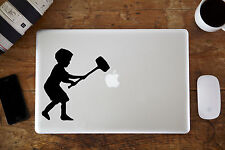 "Banksy Kid with Hammer Decal Sticker for Apple MacBook Air/Pro Laptop 11"" 13"" 15"