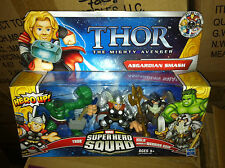 SUPER HERO SQUAD asgardiano Smash 3 Pack Figure Hulk Thor Odino UK Venditore