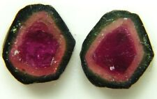 Top quality watermelon tourmaline, slice,11.01ct Brazil around 10mm,Brazil 579