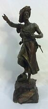 Antique Late 19th C French Figural Spelter Soldier VAINQUEUR Statue Sculpture