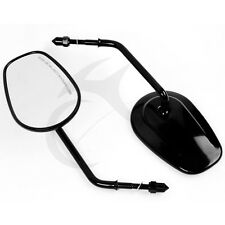 Black Rear View Mirrors For Harley Davidson Road King FLHT FLHR FLHTC Classic US