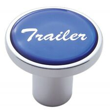 knob trailer screw on blue glossy sticker for Kenworth Peterbilt Freightliner